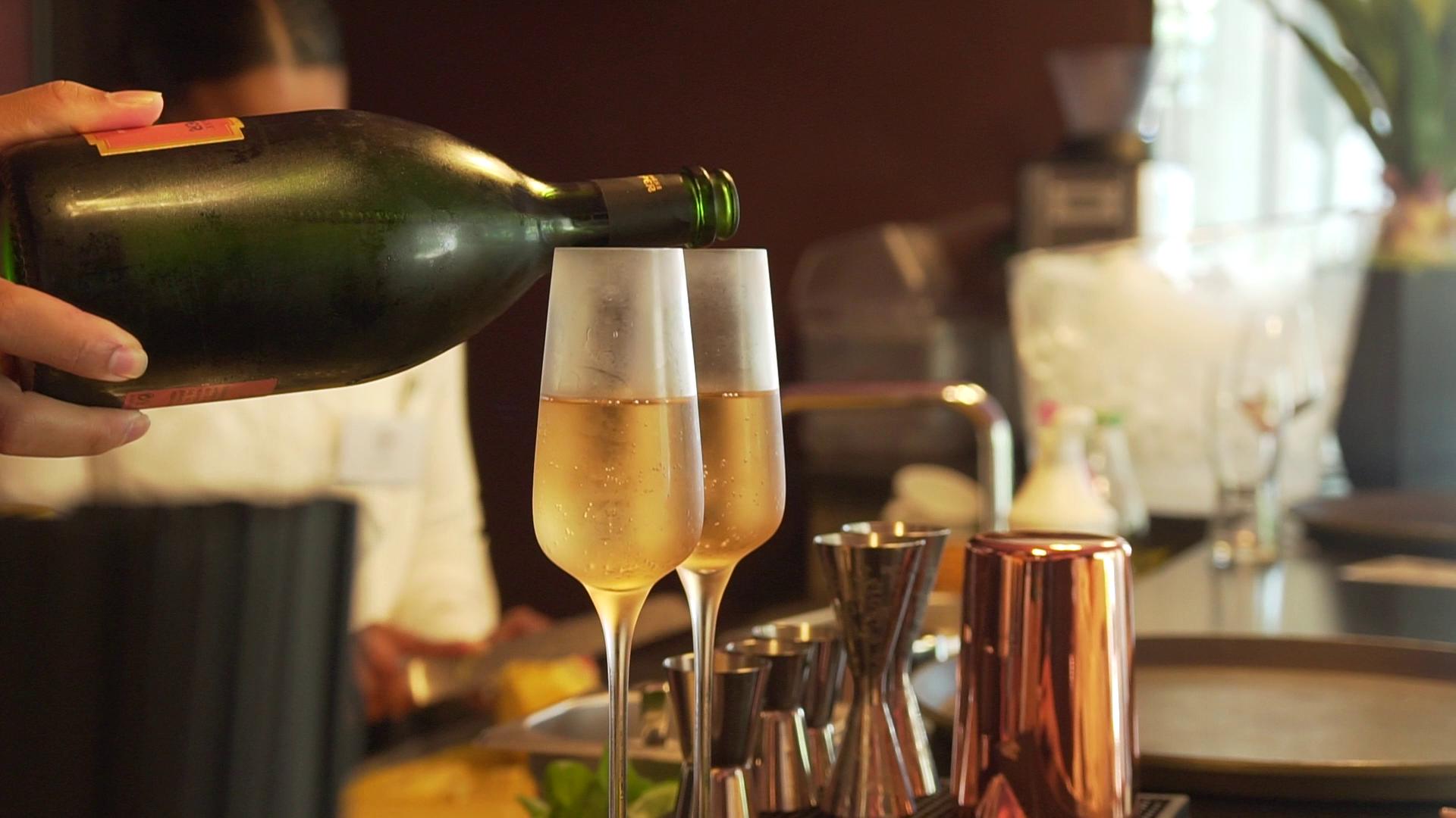 Service de champagne